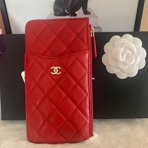 Chanel Red Phone Case Pouch ❤️
